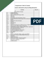 CTD Dossier Index