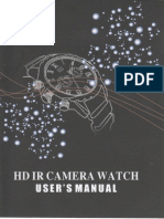 HD Spy Watch With Night Vision - Manual