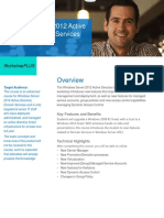 WorkshopPlus WindowsServer2012 Active Directory Domain Services