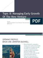 Topic 8_Managing Early Growth of the New Venture