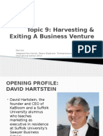Topic 9_Harvesting & Exiting a Business Venture