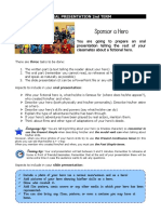 1eso Oral Presentation 2nd Term