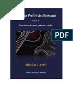 Caderno Prático de Harmonia - Capa, Contracapa , Sumário e Algumas Informações Do Livro.