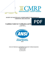 SMRPCO Candidate Guide for Certification Recertification Feb 14 2012
