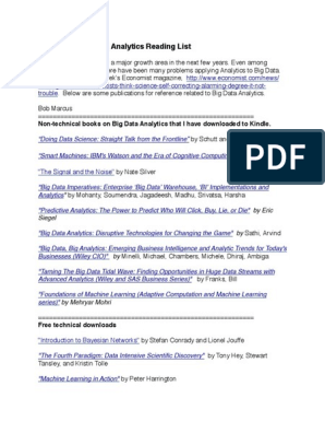 Analytics Reading List | Analytics | Big Data