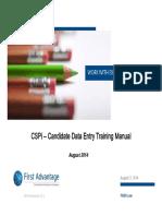 CSPi Training Manual
