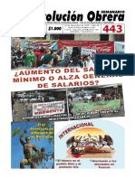 Semanario Revolución Obrera Edición No. 443