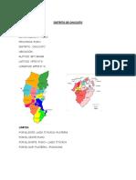 Distrito de Chucuito - Datos Generales
