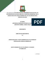 Monografia Influencia de La Nutricion y El Rendimiento Escolar 1