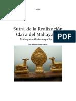 Sutra de La Realización Clara Del Mahayana.