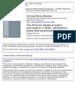 Avritzer - Los Diferentes Diseños de La Participación Pública en Brasil