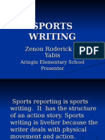 Sports Writing (Division Training)