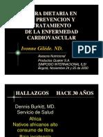 FIBRA DIETARIA EN LA PREVENCION Y TRATAMIENTO DE LA ENFERMEDAD CARDIOVASCULAR