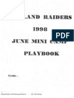 1998 Oakland Raiders Mini Camp Playbook