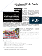 La Escuela Bolivariana Del Poder Popular - Documento Word