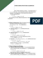 Nociones Sobre Estructuras Algebraicas