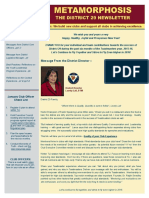 District 29 Newsletter January 2016