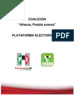 PLATAFORMA ELECTORAL PUEBLA PRI-PVEM
