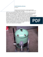 Horno Para Fundicion Artesanal de Aluminio