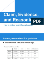 claim evidence reasoning intro