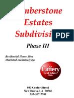Timber Stone Estates Phase III Packet