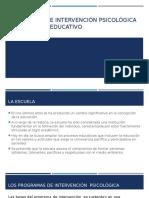 Programas de Intervención Psicológica en El Ámbito Educativo