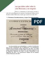 Las 5 cosas que debes saber sobre la Constitución Mexicana y sus orígenes