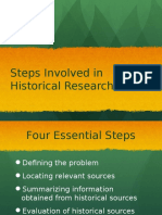 Steps in Historical Research