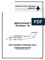 Beech Duchess POH