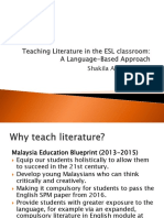 Teaching Literature in the ESL Classroom PMShakila