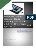 Yohanes Chandra Ekajaya - Harga Samsung Galaxy Tab 2 7.0 P3110 Terbaru April 2015