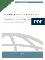 Global Climate Risk Index 2016