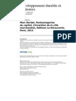 Developpementdurable 9871 Vol 4 n 2 Marc Berdet Fantasmagories Du Capital l Invention de La Ville Marchandise Editions La Decouverte Paris 2013