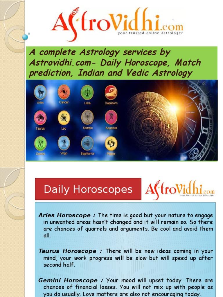 vedic horoscope daily