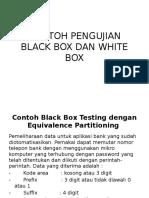 Contoh Pengujian Black Box Dan White Box