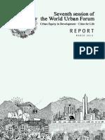 World Urban Forum 7 Report - March 2015