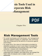 5. Analysis Tools Used in Corporate Risk Management