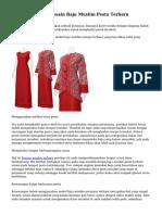 Tips Menyeleksi Desain Baju Muslim Pesta Terbaru
