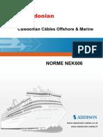 Caledonian Câbles Offshore & Marine NORME NEK606