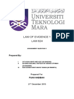 Law of Evidence Group Assignment