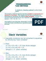 Linear Programming Simplex Methode