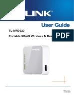 TL-MR3020 v 1 User Guide