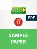 Class 11 Nso 5 Years Med Sample Paper