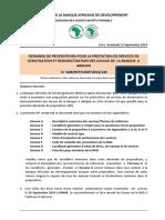 RFP-Dératisation Désinsectisation Des Locaux de La BAD à Abidjan