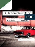 SC Automobile Dacia SA - DIMENSIUNI ALE MANAGEMENTULUI ACTIVITĂŢILOR DESFĂŞURATE