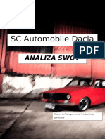 SC Automobile Dacia SA - Analiza SWOT