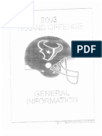 2003 Houston Texans Offense