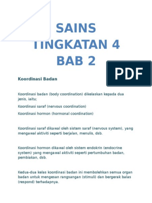 Nota Ringkas Sains Tingkatan 4 Bab 2