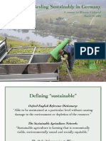 Sustainable Viticulture in Germany