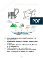 Chapter 8 Chemicals in Industry Student Copy